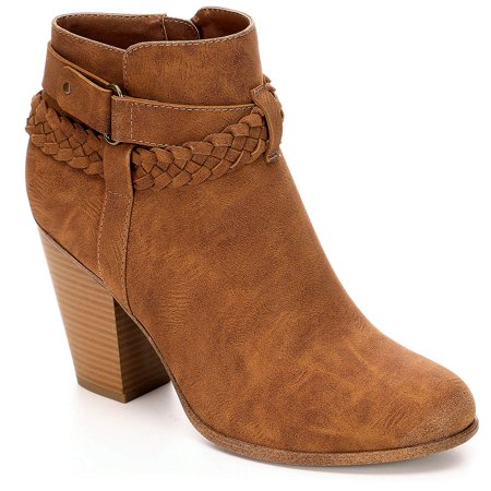 Limelight Womens Jenelle High Heel Western Ankle Boot Shoes High Heel Western Boots
