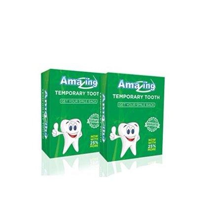Amazing Temporary Tooth # 1 Replacement Tooth Repair Kit Now with 25% More  Material 2 Pack