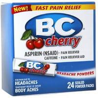 4 Pack - BC Headache Powders, Cherry  24 ea