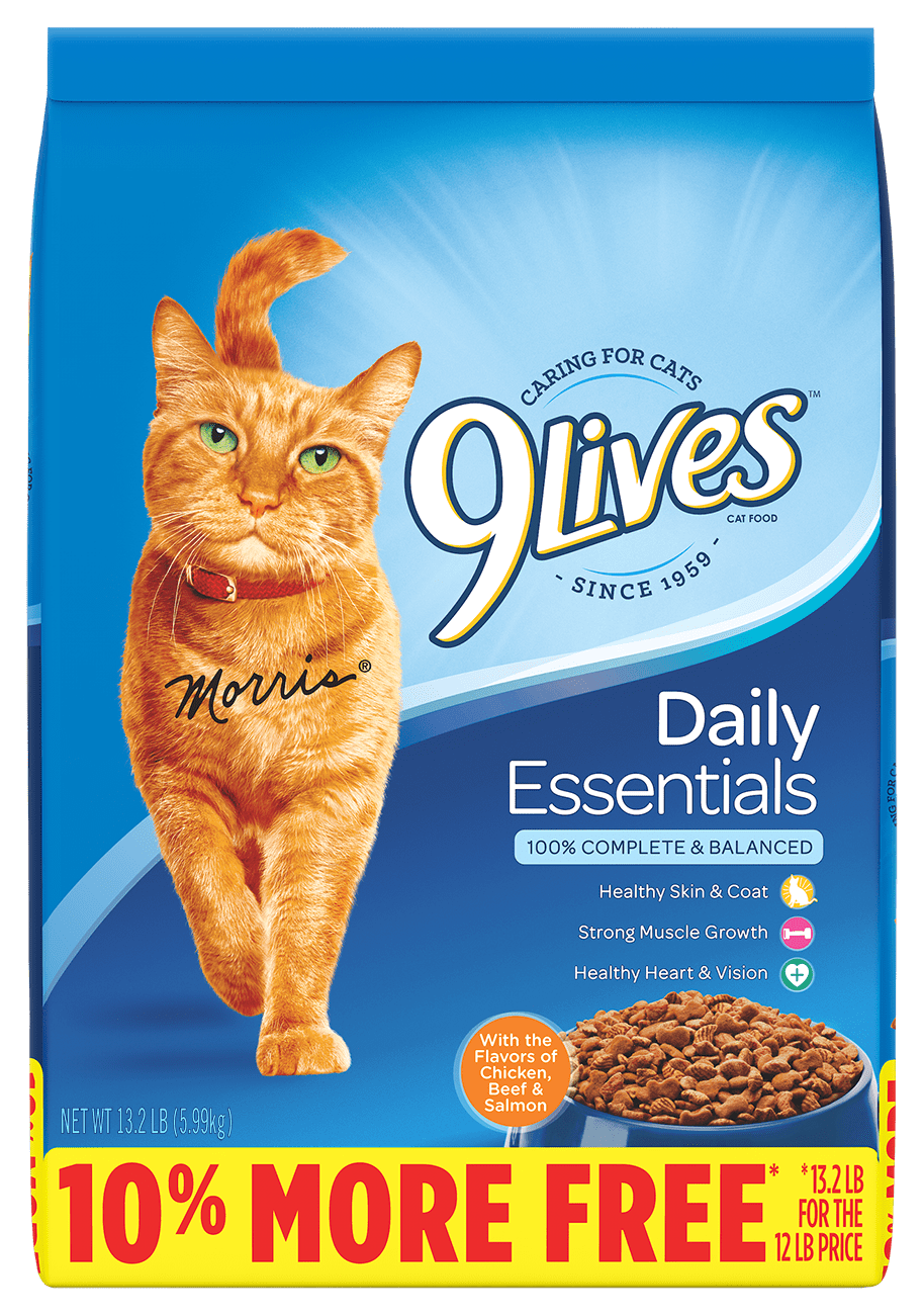 9Lives Daily Essentials (Salmon Chicken & Beef) - Dry Cat Food - 12lbs