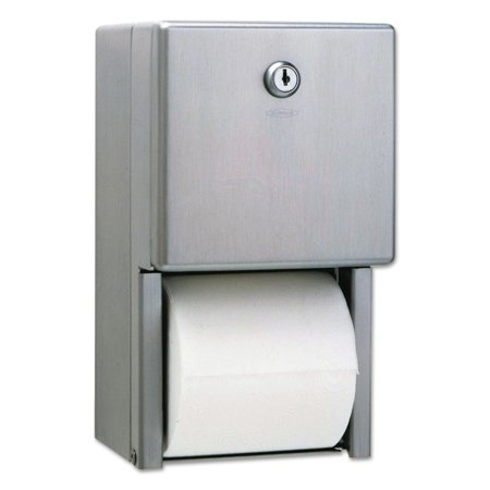 Bobrick Stainless Steel Two-Roll Tissue Dispenser (Single 9 Jbt Tissue Dispenser)