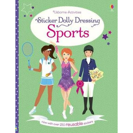 Dressing Long Hair Book - Sticker Dolly Dressing Sports
