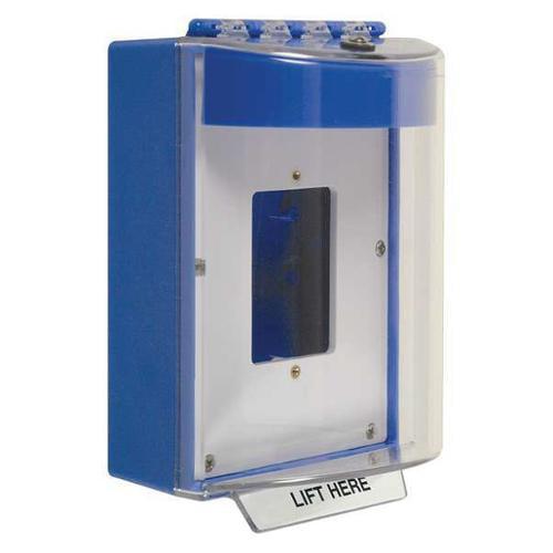 SAFETY TECHNOLOGY INTERNATIONAL STI-13510NB Universal Stp Cover, Clear/Blue