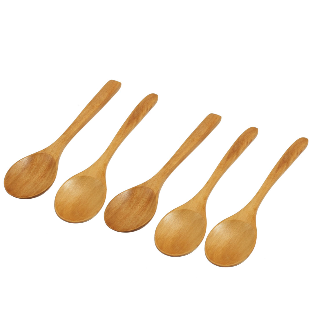 5 x Home Cooking Dinner Tableware Wooden Rice Spoon Ladle Khaki