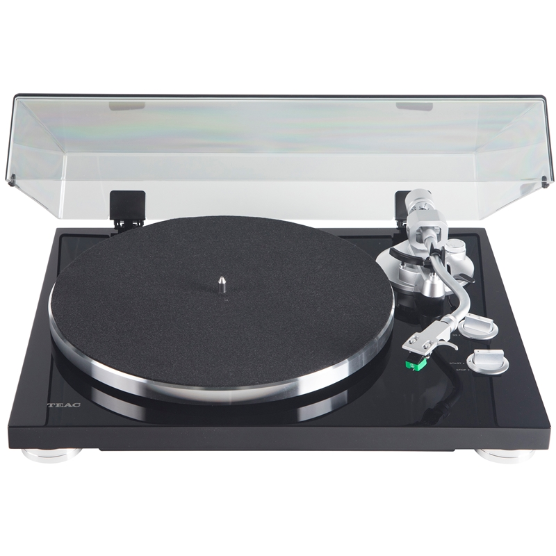 Teac TN-350-MB Satin Black 2-Speed Analog Turntable with USB Digital Output by TEAC