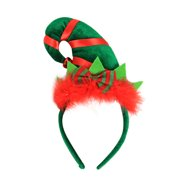 Christmas Headband Feather Hat Hoop Suit Party Fancy Dress Up Headwear Merry Christmas New Year G1