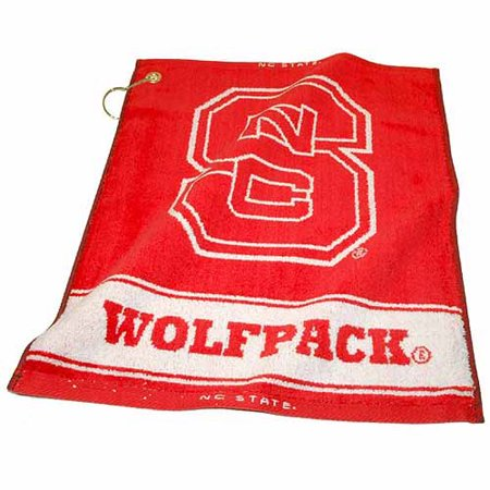 Team Golf NCAA North Carolina State Jacquard Woven Golf Towel