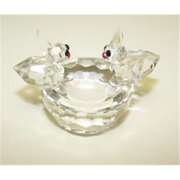 Unison 925-99137 Birdbath Glass Figurine 2in