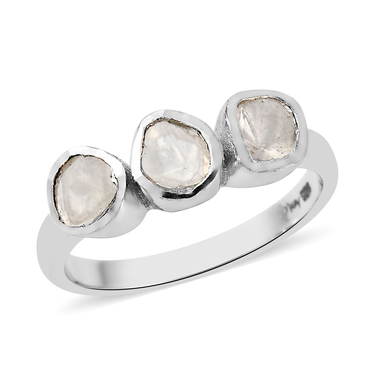 Ring Size Can Be Customize 925 Sterling Silver Polki Diamond Desiner Ring Jewelry
