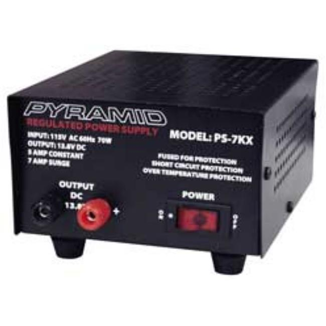 Pyramid PS-7K 5 Amp Power Supply with Anti-Skid Rubber Feet
