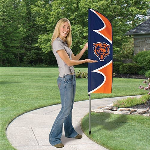 Party Animal SFCH Chicago Bears Flag And Pole