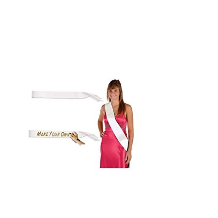 Blank Satin Sash - 21st Birthday Sash