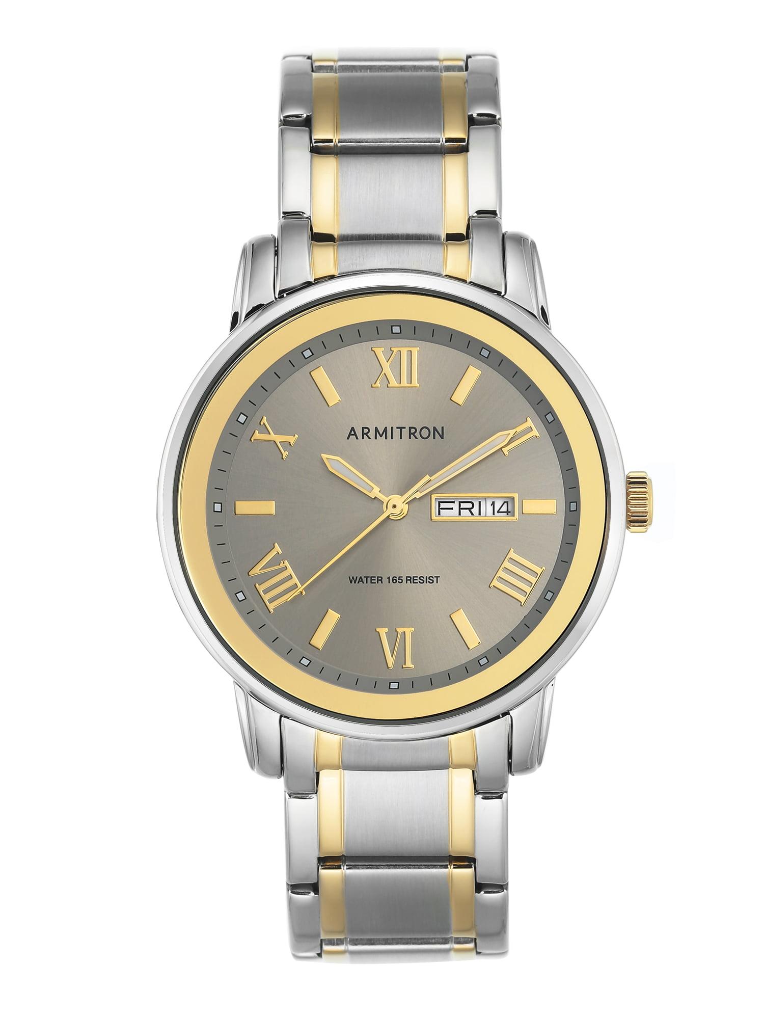 Men's Dial Watch, Grey, Two-Tone Stainless Steel Bracelet
