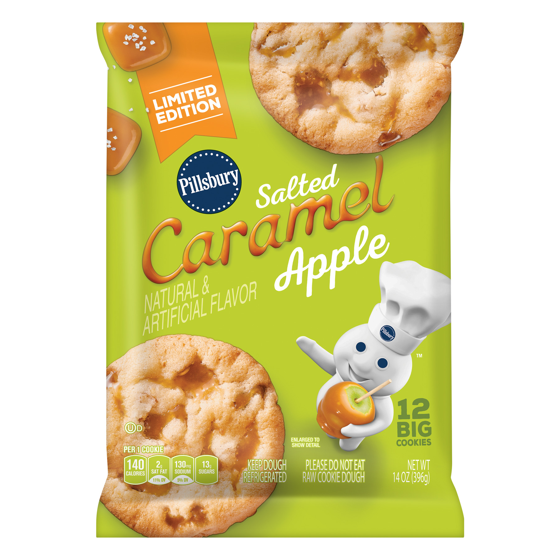 Pillsbury Salted Caramel Apple Cookies, 14.0 OZ