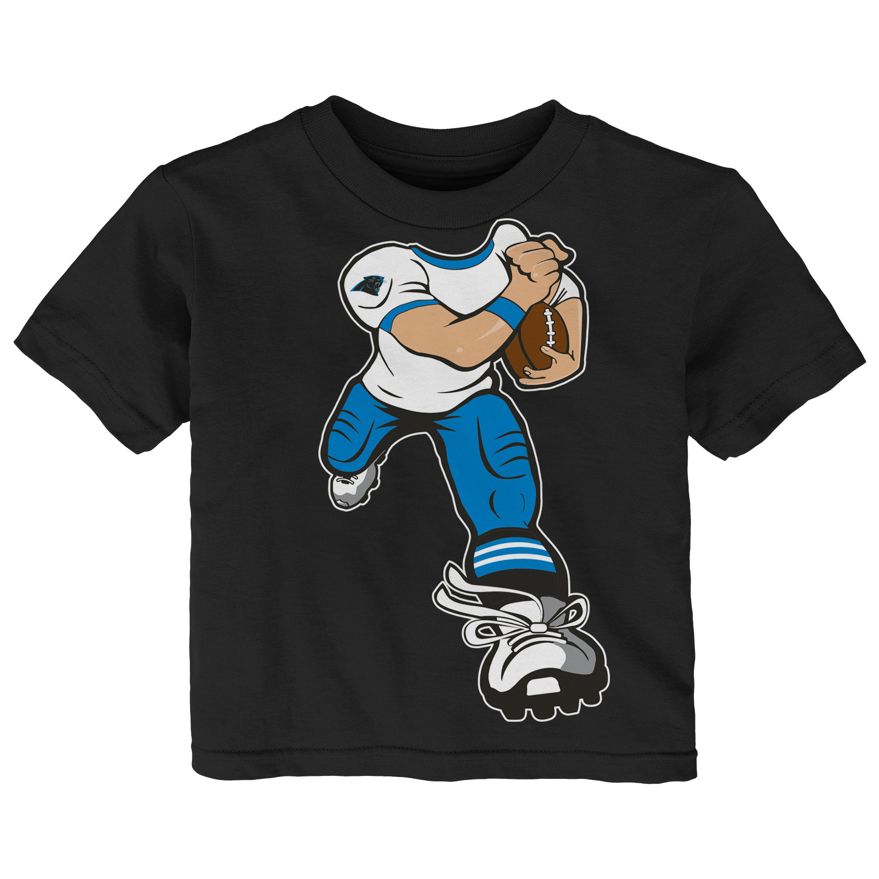 Carolina Panthers Toddler Yard Rush T-Shirt - Black