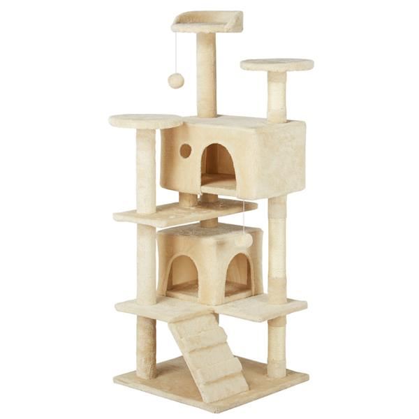 Yaheetech 51.2'' Multi-level Cat Tree Scratcher Condo Tower with Scratching Post and Toys