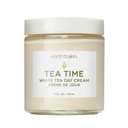 Earth to Skin Tea Time Anti Aging White Tea Day Cream, 4 oz Skin Day Cream
