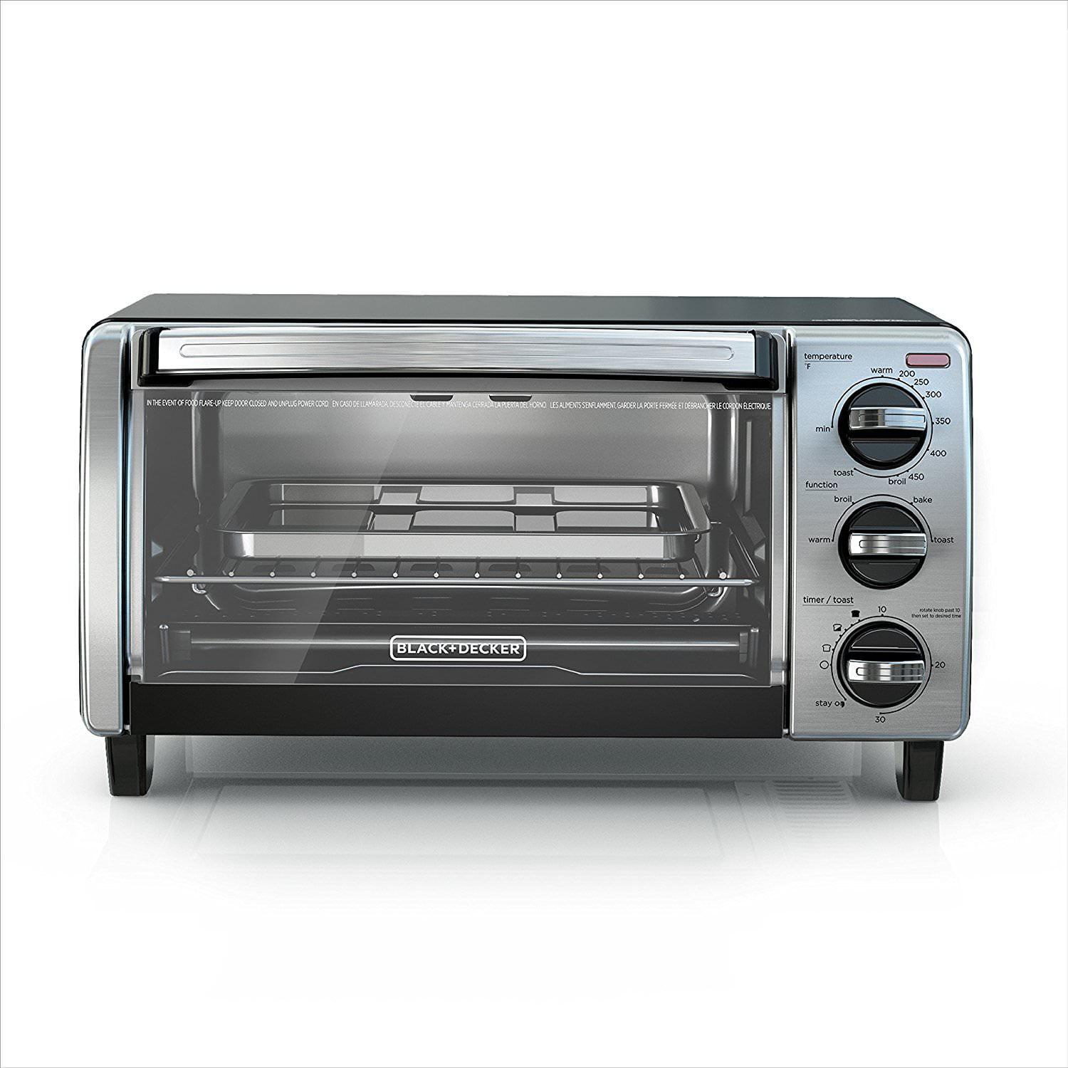 4-Slice Natural Black Convection Toaster Oven by Spectrum Brands
