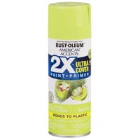 (3 Pack) Rust-Oleum American Accents Ultra Cover 2X Gloss Key Lime Spray Paint and Primer in 1, 12 oz