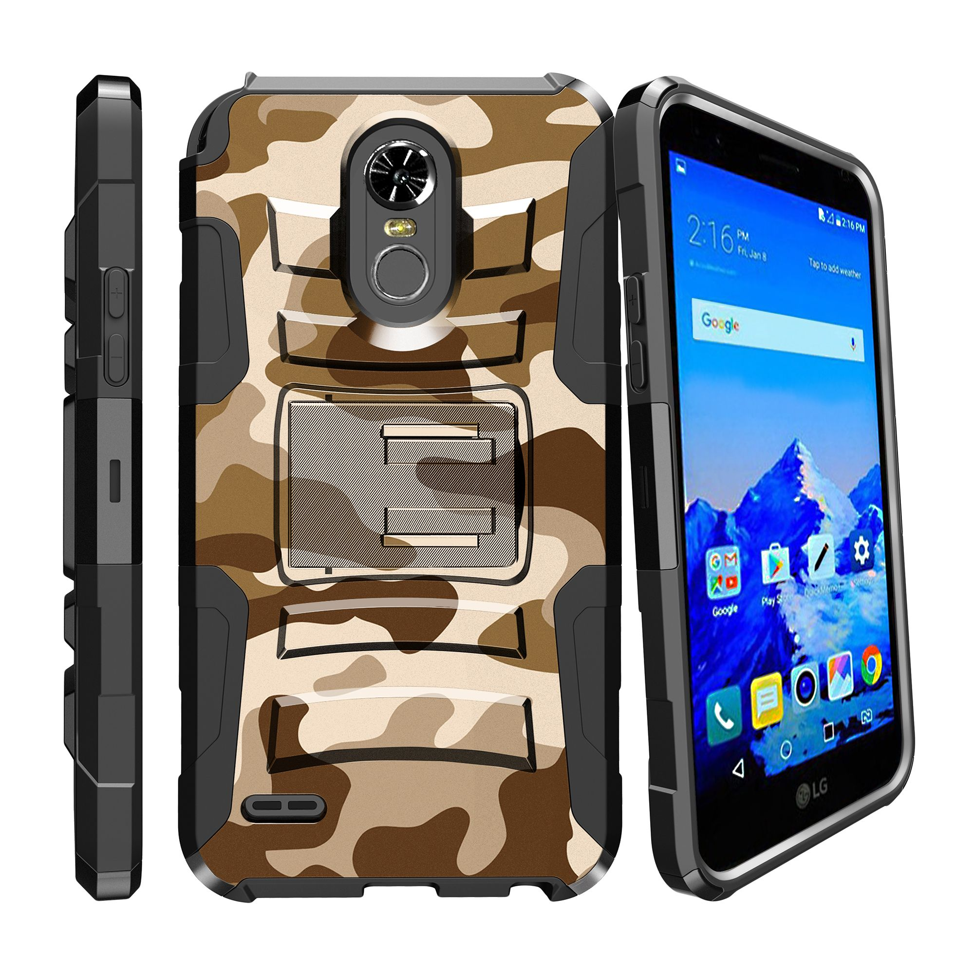 LG Stylo 3 | Stylo 3 Holster Case  [ Clip Armor ] Heavy Duty Case with Belt Clip & Kickstand Camo Collection