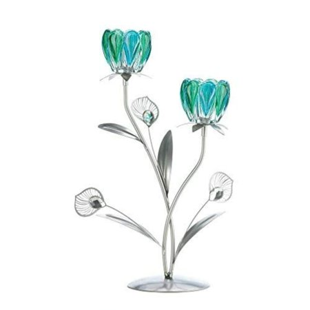 Sunshine Megastore Double Peacock Bloom Candleholder, Iron, Plastic and Glass By Tom (Stores That Sale Toms)