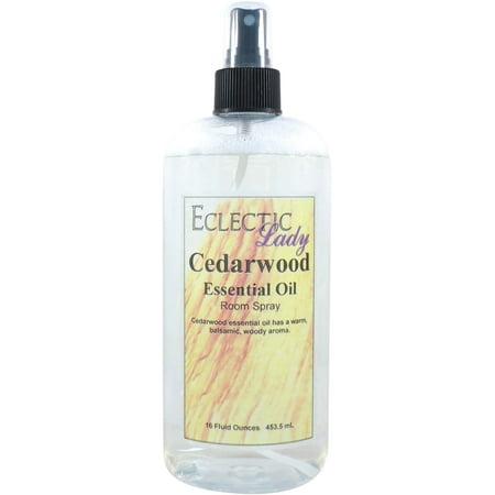 Cedarwood Essential Oil Room Spray, 16 ounces