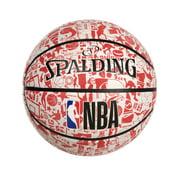 "Spalding NBA Graffiti 29.5"" Basketball - Red/White"