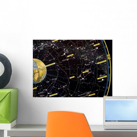 Constellation Star Map Wall Mural by Wallmonkeys Peel and Stick Graphic (18 in W x 13 in H) WM130370 ()
