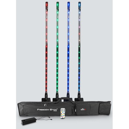 (Used Chauvet Freedom Stick Pack DJ Lighting Battery Powered (4) RGB LED Light Package)