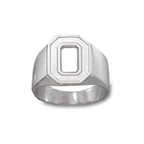 NCAA - Ohio State Buckeyes Sterling Silver Block ''O'' Ring Size 11