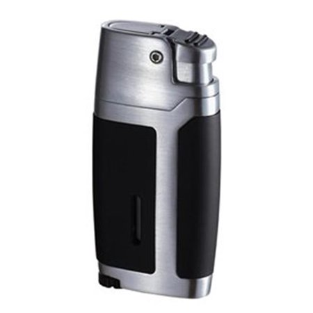 Bron Matte Black and Brushed Chrome Lighter - image 1 of 1