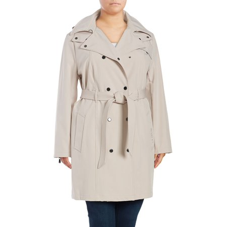 Plus Trenchcoat with Hood -