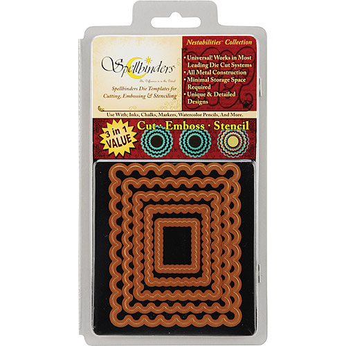 Spellbinders Nestabilities Dies-Classic Scallop Rectangle, Large - 5