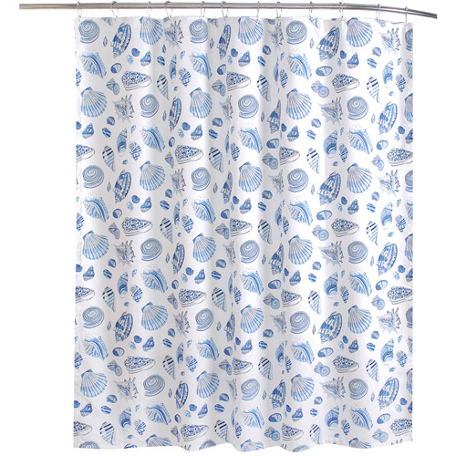 Waverly Free Standing Shower Curtain, Low Tide
