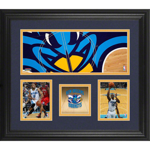 NBA - New Orleans Hornets Framed 3-Photograph Collage