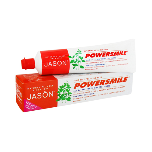 Jason Natural Powersmile Whitening Toothpaste, Peppermint - 6 Oz, 2 Pack