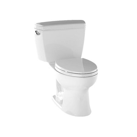 CST744SG-01 Drake Elongated Two Piece Bowl Toilet, Cotton White ()