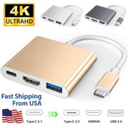 Basstop USB C HDMI Type-C HDMI Mac 3.1 Converter Adapter Type-C to HDMI For Macbook Pro-Gold