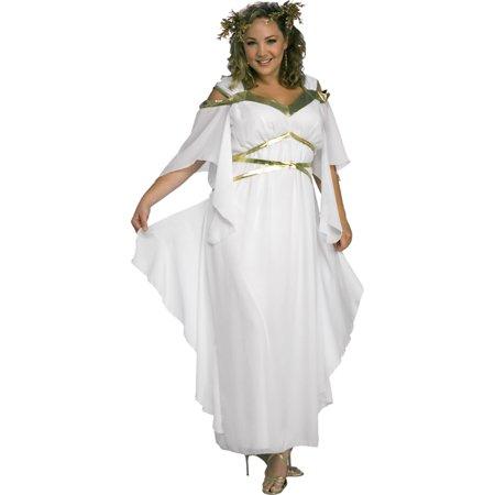 Womens Greek Costumes (Morris Costumes Womens Greek Roman Costume White Gold One Size Plus, Style)