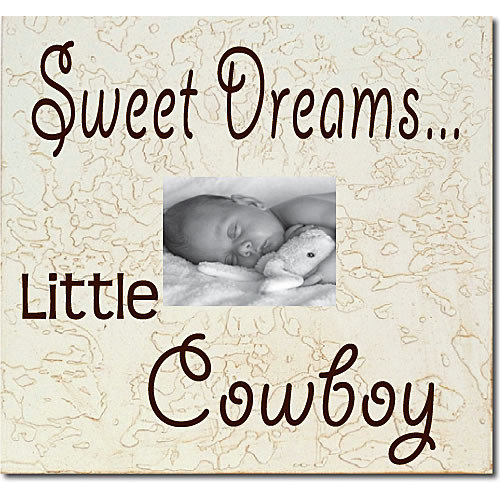 Forest Creations Sweet Dreams...Little Cowboy Child Frame