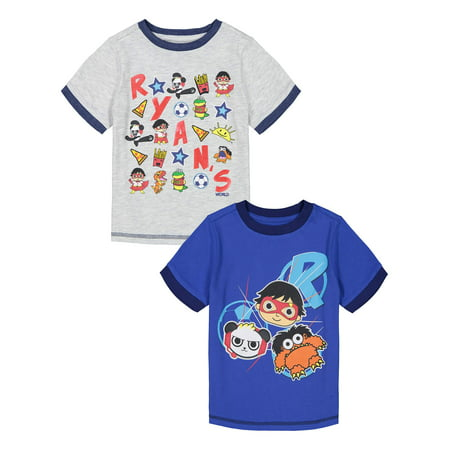 Ryan's World Ringer Graphic T-Shirt, 2-Pack (Little Boys & Big (Dyslexics Of The World Untie T Shirt)