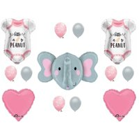 Baby Girl Elephant Peanut Baby Shower Balloons Decoration Supplies