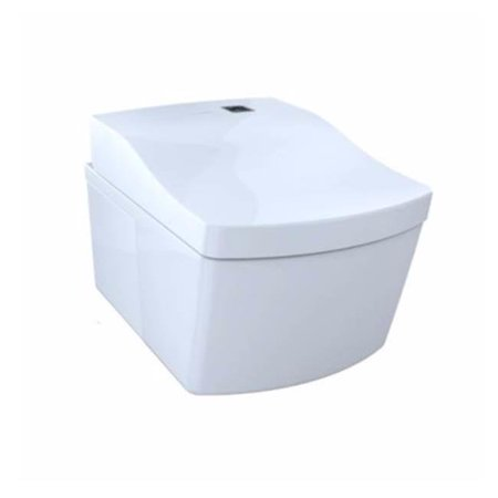 Bidet E Water.Toto Cwt994cemfg01 Dual Flush Wall Hung Toilet With Integrated Bidet Seat E Water Cotton White