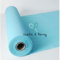 Plastic Banquet Tablecloth Roll, Aqua, 40in x 100ft