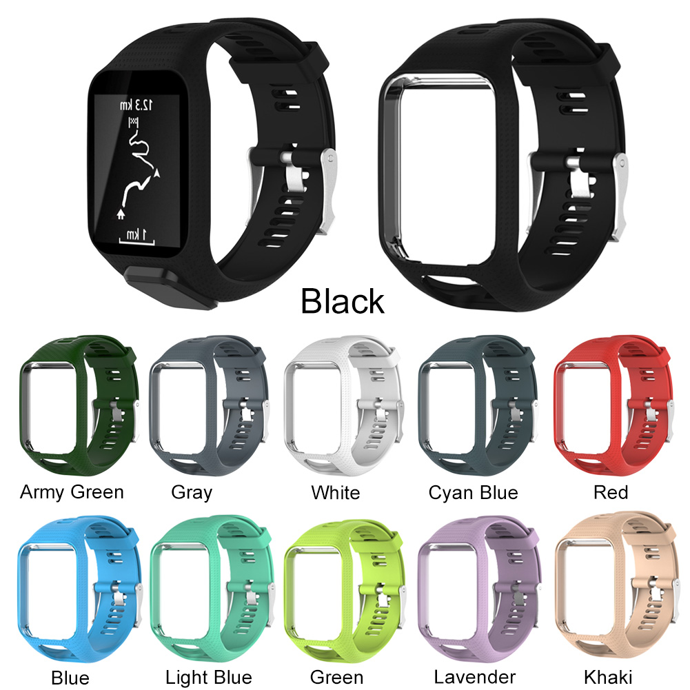 Soft Silicone Sport Band Replacement Wrist Strap Compatible for TomTom Runner 2 3/Spark/Spark 3/Golfer 2/Adventurer