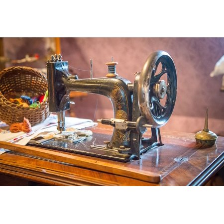 Framed Art for Your Wall Sewing Machine Sew Hand Labor Tailoring 10x13 Frame (Tailoring Board)