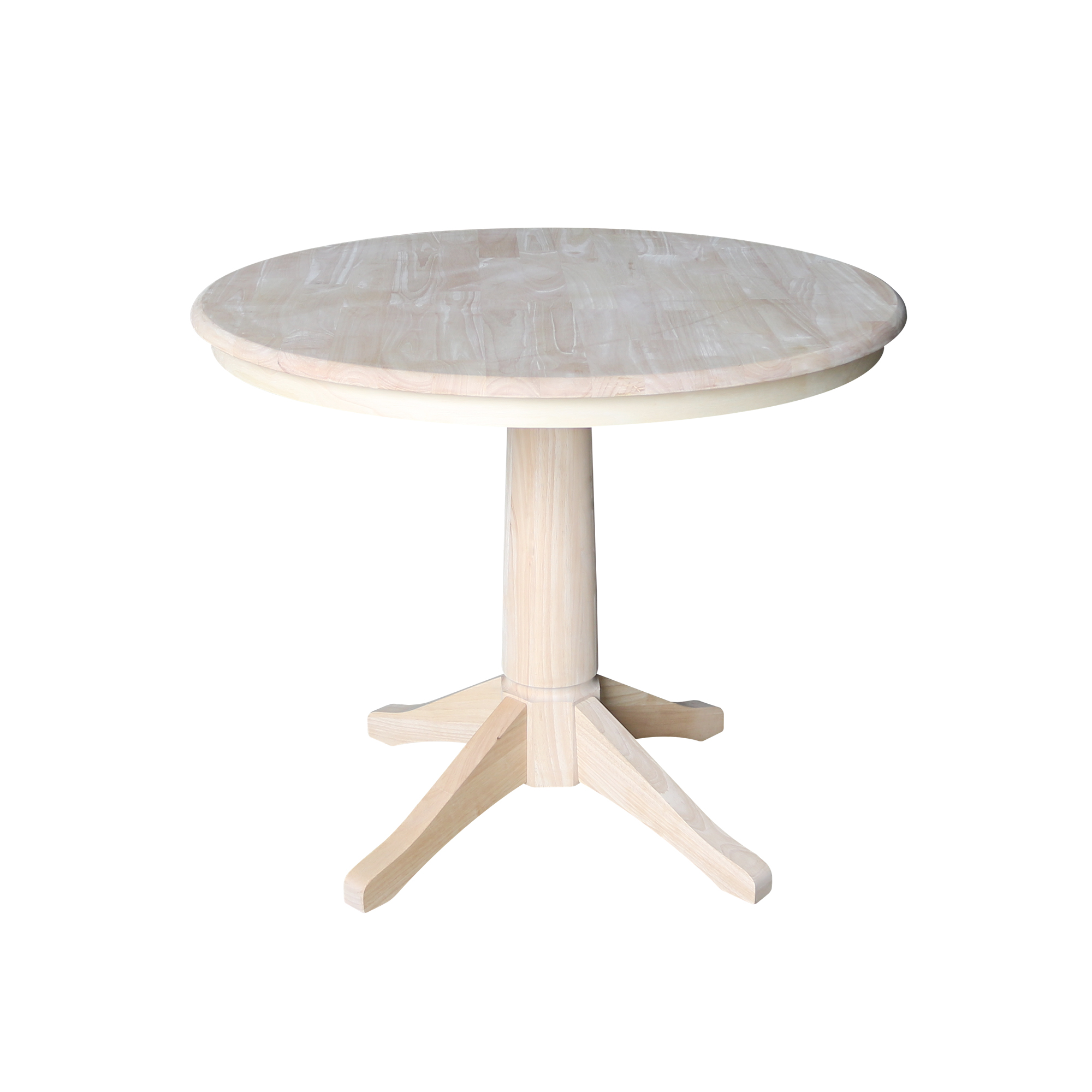 36 Round Pedestal Dining Table Unfinished