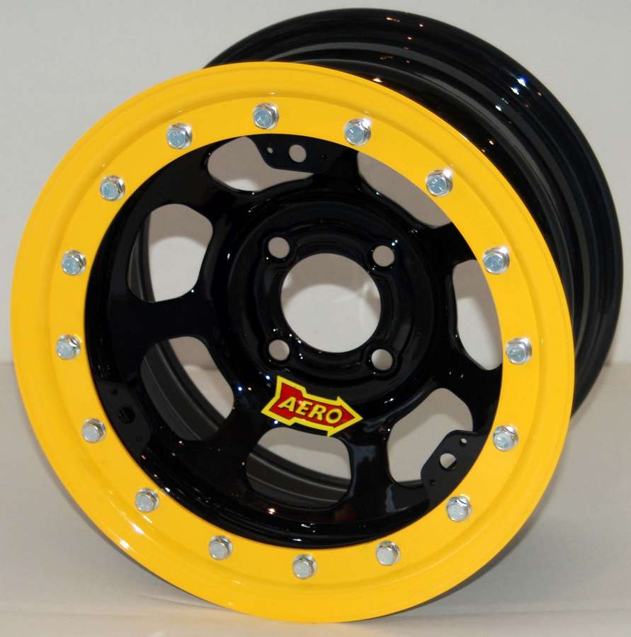 "Aero Race Wheels 33-Series 13x8"" 4x4.00 Black Wheel P/N 3..."