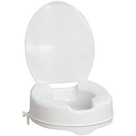 Healthline Raised Toilet Seat With Lid And Lock Elevated