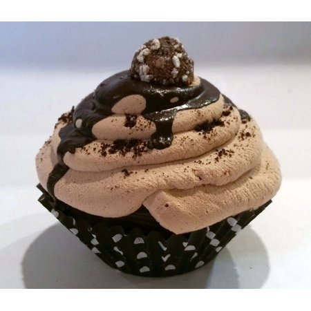 Chocolate Truffle Nut Cupcake Fake Prop display home decoration (Chocolate Cupcake Candy)